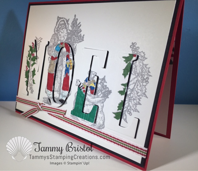 "Tammy""s Stamping Creations Stampin' Up! Father Christmas Christmas Card"